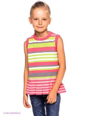 Жилет PlayToday. Цвет: розовый, белый, серый, салатовый, бледно-розовый