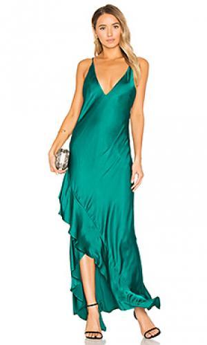 Платье zoe Backstage. Цвет: темно-зеленый