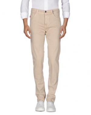 Джинсовые брюки TRAMAROSSA. Цвет: бежевый