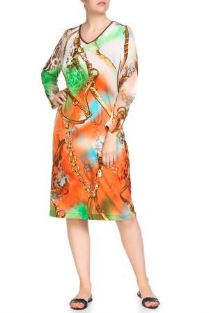 Платье домашнее Лукреция LAVELLE. Цвет: мультицвет