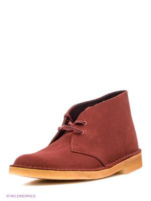 Ботинки Clarks. Цвет: бордовый