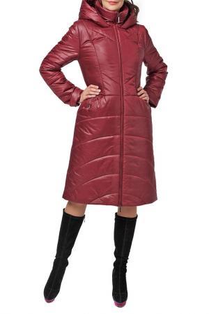 Пальто DizzyWay. Цвет: вишневый