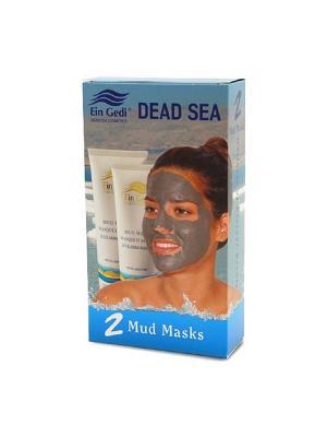 Дуо - 2 грязевые маски для лица и шеи по 100ml Ein Gedi. Цвет: белый