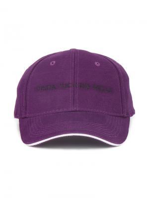 Бейсбольная кепка с вышивкой Natasha Zinko. Цвет: розовый и фиолетовый