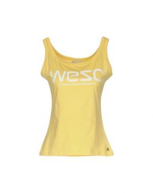 Майка WESC. Цвет: желтый
