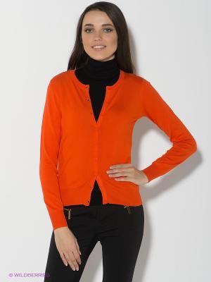 Кардиган Oodji. Цвет: оранжевый