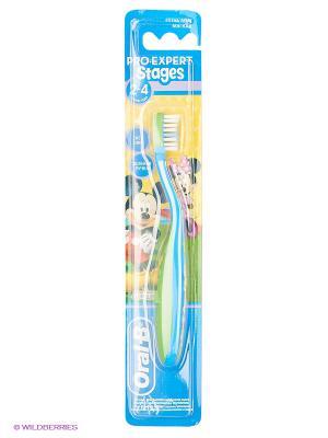 Детская зубная щетка PRO-EXPERT Stages 2, мягкая, 1 шт, для 5-7 года ORAL_B. Цвет: зеленый