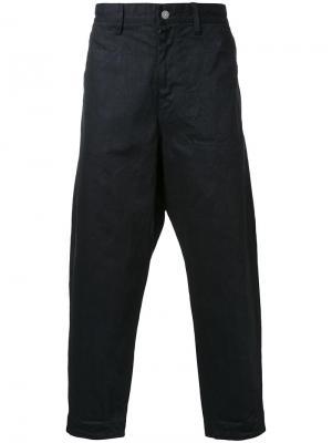 Широкие джинсы Gold. Цвет: чёрный