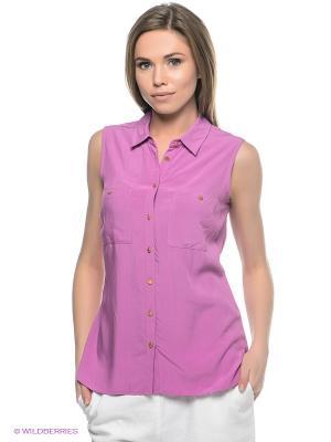Блузка SELA. Цвет: лиловый