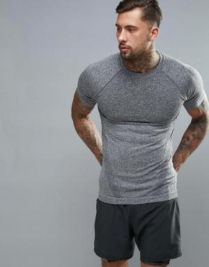 New Look Серая бесшовная футболка SPORT. Цвет: серый