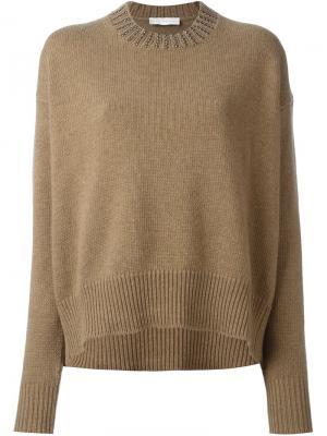 Декорированный свитер Giada Benincasa. Цвет: телесный
