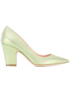 Туфли с блестящей отделкой Rupert Sanderson. Цвет: зелёный