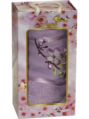 Полотенце в подарочной коробке ЛЮКС  50х90 см, 100% хлопок Dorothy's Нome. Цвет: сиреневый