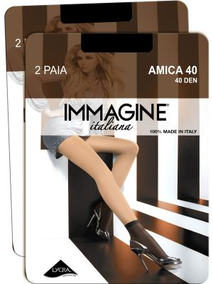 Носки, 6 пар Immagine. Цвет: черный