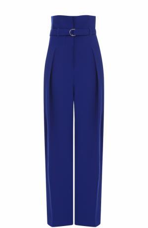 Широкие брюки с защипами и завышенной талией поясом 3.1 Phillip Lim. Цвет: синий