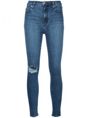 Облегающие укороченные джинсы Siren Nobody Denim. Цвет: синий