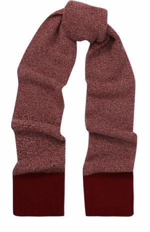 Вязаный шарф из кашемира Johnstons Of Elgin. Цвет: бордовый