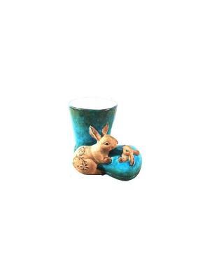 Кашпо - Сапожок Marquis. Цвет: голубой, кремовый