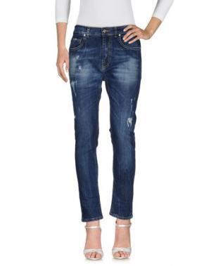 Джинсовые брюки AN UPDATE. Цвет: синий