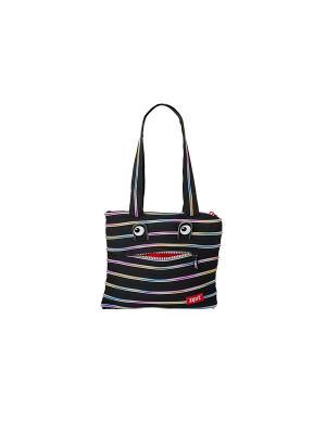 Сумка Monster Tote/Beach Bag ZIPIT. Цвет: черный