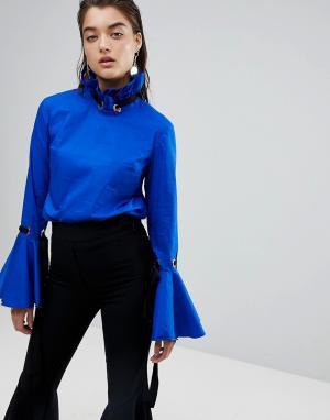 Style Mafia Топ Stylemafia Jahar. Цвет: синий