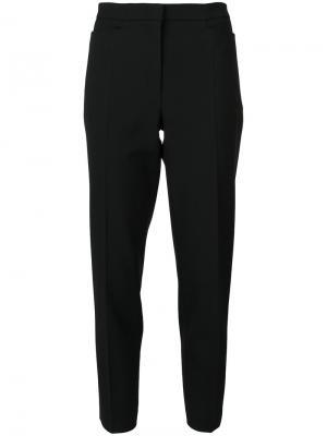 Укороченные брюки-сигареты Odeeh. Цвет: чёрный