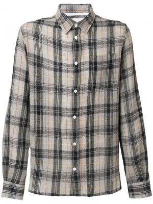 Плетеная рубашка свободного кроя Hans Norse Projects. Цвет: серый
