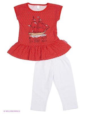 Комплект одежды Bossa Nova. Цвет: красный, бежевый