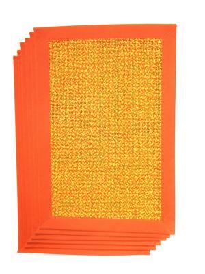 Плейсматы, 6 шт DiMi. Цвет: оранжевый