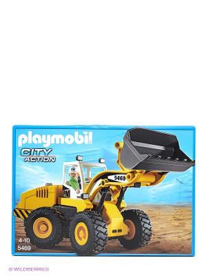 Конструктор Большой фронтальный погрузчик Playmobil. Цвет: желтый