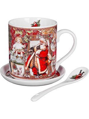 Чайный набор Mister Christmas. Цвет: красный