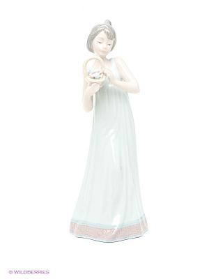 Статуэтка Ангелиса Pavone. Цвет: салатовый, бежевый