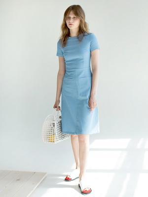 Платье из голубого денима Self Made