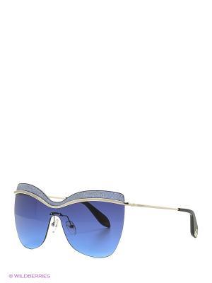 Солнцезащитные очки BLD 1618 101 Baldinini. Цвет: серебристый, черный