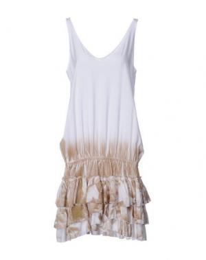 Короткое платье MONICA •LENDINEZ. Цвет: белый
