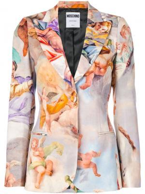 Жакет с рисунком Fresco Moschino. Цвет: многоцветный