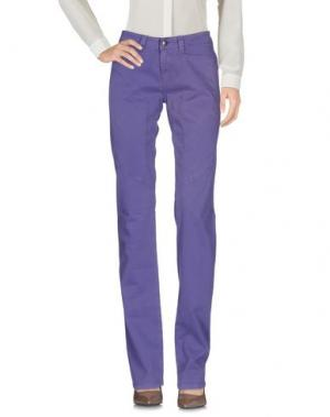 Повседневные брюки 9.2 BY CARLO CHIONNA. Цвет: светло-фиолетовый