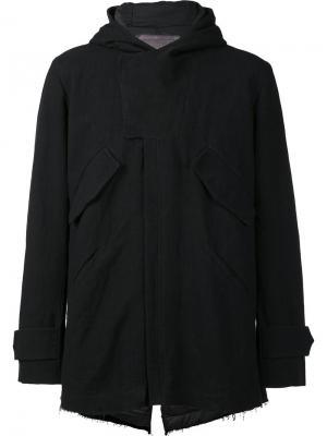 Куртка с капюшоном на молнии By Walid. Цвет: чёрный