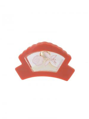 Прозрачная заколка для волос Theatre Products. Цвет: красный