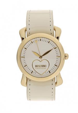 Часы Moschino. Цвет: бежевый