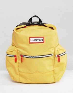 Hunter Желтый нейлоновый мини-рюкзак Original. Цвет: желтый