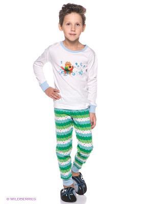 Пижама Lowry. Цвет: белый, зеленый, голубой