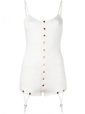 Блузка Teddy Bodysuit Murmur. Цвет: белый
