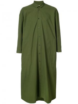 Платье-рубашка  Draughtsman Toogood. Цвет: зелёный