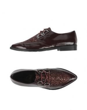 Обувь на шнурках LE STELLE. Цвет: красно-коричневый