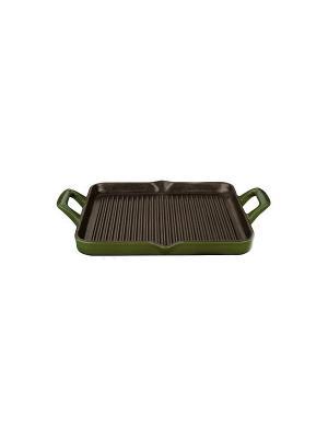 Сковорода LA CUISINE гриль 29*26см зеленая 7150. Цвет: зеленый