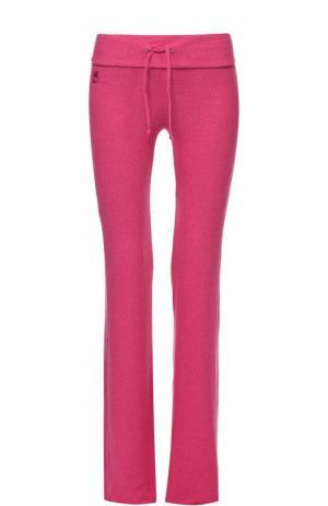 Спортивные брюки с эластичным поясом Wildfox. Цвет: розовый