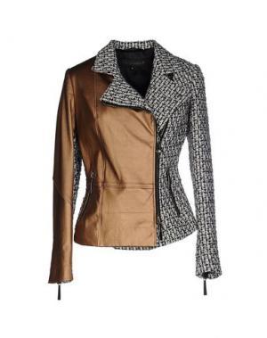Куртка GOOD ON HEELS. Цвет: коричневый