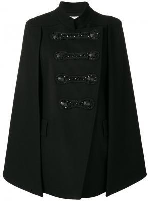 Embellished military cape Pierre Balmain. Цвет: чёрный