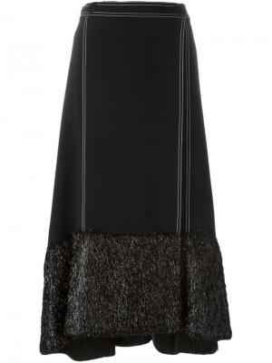 Расклешенная юбка Marco De Vincenzo. Цвет: чёрный